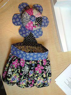 Abbey Bag pincushion & thread catcher by stitchcat