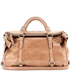 b7011dcff6da Miu Miu Bow glazed leather tote on shopstyle.com