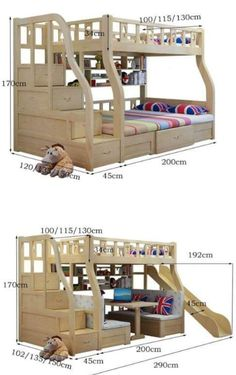 """See our internet site for even more relevant information on """"modern bunk beds for boys room"""". It is an outstanding location to read more. Bunk Beds With Stairs, Cool Bunk Beds, Kids Bunk Beds, Bunk Bed Plans, Bed Storage, Storage Spaces, Extra Storage, Modern Bunk Beds, Bunk Bed Designs"""