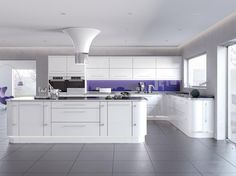 Looking for an on-trend white gloss kitchen? Call us today for an in-home appointment with our design team, and we could be fitting your new kitchen in January New Kitchen Cabinets, Kitchen Units, Kitchen Cabinet Doors, Kitchen Tiles, Kitchen Flooring, Kitchen Decor, Kitchen Interior, High Gloss Kitchen Doors, White Gloss Kitchen