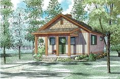 Cabin Ranch Traditional House Plan 82343