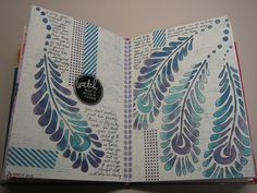 """by azmoorefamily -- using the Balzer Designs """"Peacock"""" stencil."""
