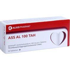 ASS AL 100 TAH Tabletten:   Packungsinhalt: 50 St Tabletten PZN: 03024314 Hersteller: ALIUD Pharma GmbH Preis: 1,17 EUR inkl. 19 % MwSt.…