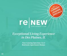 Are you looking for an apartment community in Des Plaines, IL? Look no further! 🌇 From our location to our amenities, everything we have we specifically chose for your convenience and enjoyment! We are currently offering up to TWO MONTHS your first full month rent! Contact us today and be our neighbor! #NowLeasing