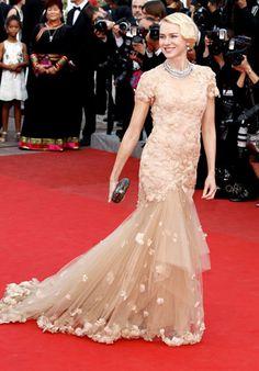 ND :: dez :: Naomi Watts in Marchesa - Red Carpet Dresses at Cannes 2012 - Harper's BAZAAR