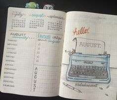 """676 Likes, 24 Comments - Belinda Marriott (@belindamarriott) on Instagram: """"Hello, August!!! . I finally set up my August cover spread a few days ago. With all the back-to-…"""""""