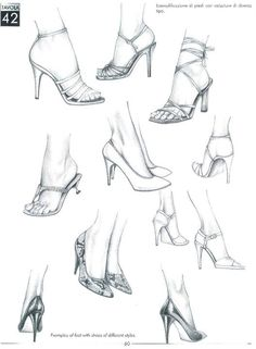drawing art heels shoes draw Feet high heels Anatomy sneakers foot reference sneaker tutorial shoe toes toe anatomical Ankles heel references ankle toenails Source by lunasilber heels drawing Fashion Design Sketchbook, Fashion Illustration Sketches, Fashion Design Drawings, Fashion Sketches, Drawing High Heels, Feet Drawing, Shoe Drawing, Fashion Figure Drawing, Fashion Drawing Tutorial