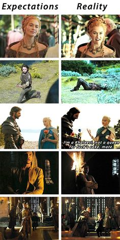 (gif set) Expectations vs Reality ||| Game of Thrones bloopers
