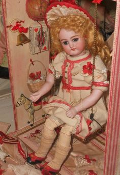 """~~~Exceptional French """" Bebe Balancoire """" in Original Presentation~~~ from whendreamscometrue on Ruby Lane"""