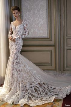 Berta Fall 2016 Wedding Dresses Bridal Photo Shoot / http://www.himisspuff.com/mermaid-wedding-dresses/