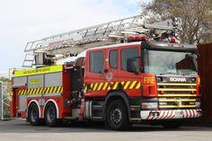 New Zealand Fire Service Scania Ladder Truck