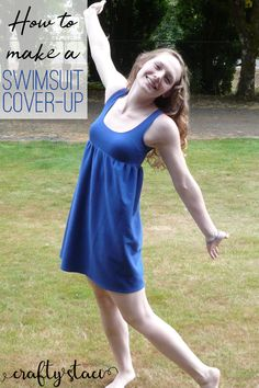 How to Make a Swimsuit Cover-Up from craftystaci.com #summersewing #swimsuitcover #diydress