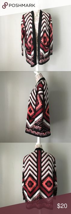 Charlotte Russe Aztec Cardigan Charlotte Russe black and white Aztec print chunky Cardigan. Size small. Charlotte Russe Sweaters Cardigans
