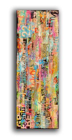 Custom made Painting mixed media on wood van erinashleyart op Etsy