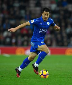 Leicester player Shinji Okazaki in action during the Premier League match between Sunderland and Leicester City at Stadium of Light on December 3, 2016 in Sunderland, England.