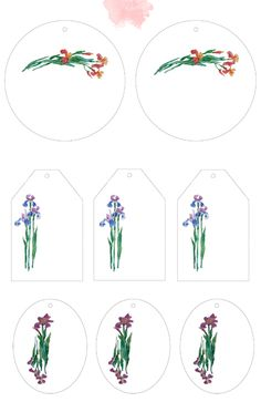 http://ino-oshi.livejournal.com/tag/акварель #iris #fleur-de-lis #watercolor #tag #label #printable #print #pdf