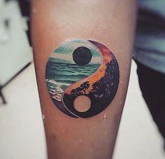 Yin yang tattoo harmony