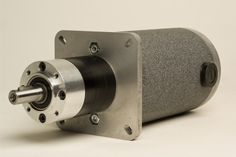 Groschopp's I-Series Gearbox attached to a DC motor. For more information on all of Groschopp's products visit http://www.groschopp.com