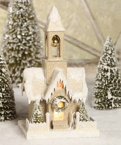 This 12'' Church in the Woods by Bethany Lowe Designs is perfect! #zulilyfinds
