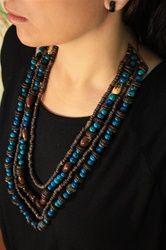 The Blue Diversity Necklace by WildBerryEcoJewelry - an Eco Fashion jewelry item handmade in Brazil
