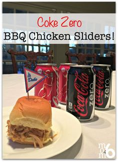 Coke Zero BBQ Chicken Sliders! With free printable slider toppers and NCAA® Final Four banners!