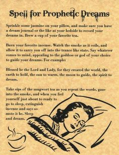 Spell to protect your dreams