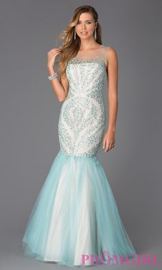 Image of Beaded Mermaid Prom Gown by Terani Style: TI-GL-P3117G Detail Image 1