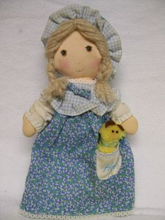 Holly Hobbie Vintage Bedtime Doll in Nightgown with Pet KNICKERBOCKER Toys Circa 1970s. $13.00, via Etsy.
