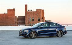 Lataa kuva Audi S3, 2017, Sedan, Sininen S3, urheilu versio S3, Saksan autoja, Audi