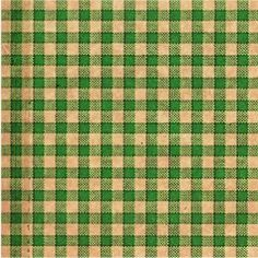 240 Green Kraft Gingham Print Tissue Paper, 20'x30' Sheets * Continue to the product at the image link.