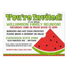 Summer Family Reunion Invitations From Reunions Magazine Let Your