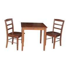 International Concepts K581-3030S-C2P 3-Piece Dining Table and Ladderback Chair Set | ATG Stores