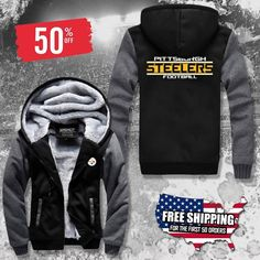 Pittsburgh Steelers Thick Fleece Jacket 50% OFF! - FREE SHIPPING