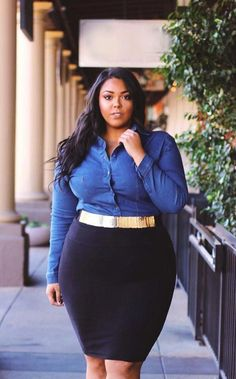 Stylish Plus-Size Fashion Ideas – Designer Fashion Tips Plus Size Fashion For Women, Black Women Fashion, Plus Size Womens Clothing, Fashion Tips For Women, Clothes For Women, Corporate Fashion Plus Size, Plus Size Business Attire, Plus Size Workwear, Female Clothing