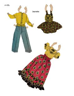JEANETTE ~~~ Lucy Eleanor Leary, Boston Sunday Post, Newspaper Paper Dolls ~ 2 of 2