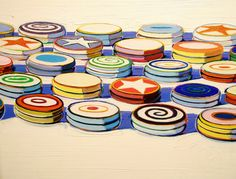 Wayne Thiebaud 1963 'Yo-Yos', Albright-Knox Art Gallery, Buffalo ...