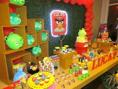 Angry Birds Themed Birthday Party Full of Fun Ideas via Kara's Party Ideas: treats table