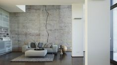 Architects Paper Fototapete «Betonwand» 470443: Beton, Sichtbeton, Riss, Mauer, Wand, Betonmauer, Betonwand