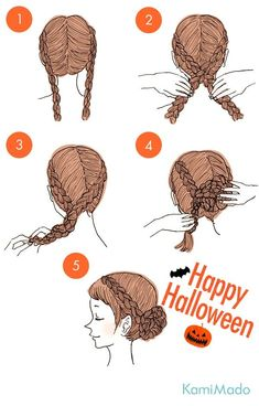 Halloween is also cute with princess style hair arrangement -. - Event and Halloween are cute with princess style hair arrangement- # Event Halloween - Cute Simple Hairstyles, Cute Hairstyles, Braided Hairstyles, Princess Hairstyles, Updo Hairstyle, Back To School Hairstyles, Princess Style, Hair Hacks, Hair Lengths