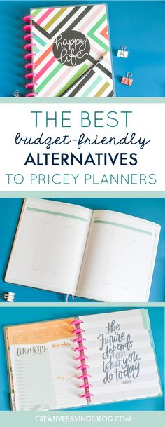Hate spending $50, $60, or even $80 on a planner? I don't blame you! This collection of cheap planner ideas is the best alternative for your wallet, and still packs a huge productivity punch. Includes FREE planner printables so you can completely customize your own! via @creativesavings