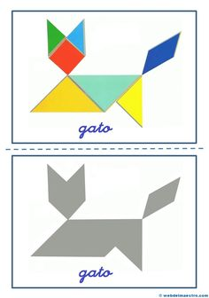 Tangram   Figuras para imprimir online Maths Day, Material Didático, Learning Time, Mind Games, Kids Health, Pattern Blocks, Educational Toys, Origami, Shapes