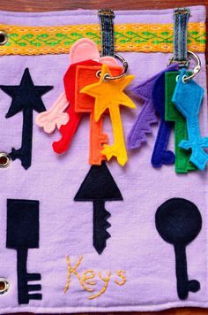 Silhouette matching / The Adventures of Six Hobbits: Alphabet Quiet Book: K is for Keys