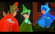 Sleeping Beauty Fairy Godmothers - Flora, Fauna, and Merryweather