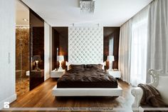 contemporary design bedrooms. Apartment, 3 White Brown Bedroom: Luxurious Apartment In Warsaw Poland With Contemporary Design By Nasciturus Bedrooms
