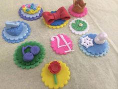 These are the perfect toppers for your Princess event. They can be used to top your cupcakes, decorate your cake, or to simply add decoration to