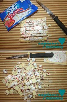 Strawberry Pop-tart Pie w/ Fruit Loop Crust