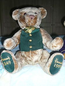 HARRODS COLLECTORS LIMITED EDITION TEDDY BEAR 1849 - 1999. DISPLAY USE ONLY. | eBay