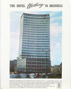 Publicité papier Hôtel Westbury Bruxelles 1969 P1016081
