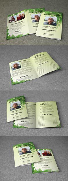 Funeral Program Template-V473