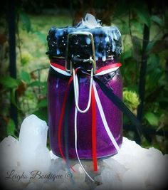 Witches Jar of Protection by leighswiccanboutique on Etsy
